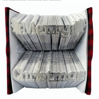 Merry Christmas Festive Celebration Folded Book Art