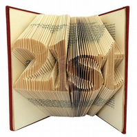 Personalised Age Number Version 2 Folded Book Art