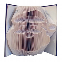 Santa Father Christmas Face Festive Folded Book Art