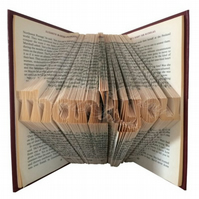 Thankyou Folded Book Art