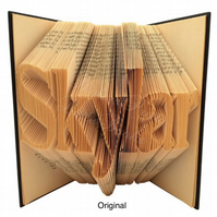 Personalised Name (max 10 letters) Folded Book Art