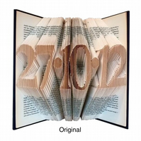 Personalised Date Folded Book Art