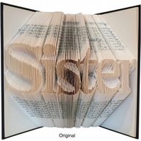 Sister Family Folded Book Art