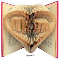 Mum In A Heart Folded Book Art