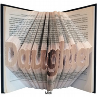 Daughter Family Folded Book Art