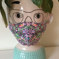 Liberty Strawberry Catcher Mini Women's  Teenager's Lawn Cotton Face Mask