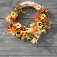 Beautiful Stunning Large Autumn Door Wreath