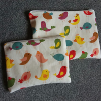Zipped Bag Hand Made Happy Chick Design