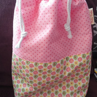 Make Up Toiletries Bag Pretty Pastels 'Handmade'
