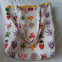 Shopping,Tote Bag Crazy Owl 'Handmade'