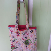 Shopping,Tote Bag Country Owl 'Handmade'