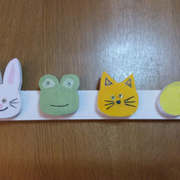 Childrens Animal Faces Coat Rack