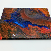 Abstract Acrylic Paint Pouring Piece