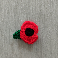 Small Red Poppy Brooch (50% of sale will be donated to the poppy appeal)
