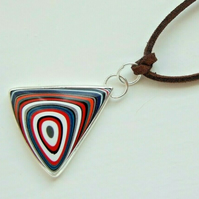 Fine Silver 999 Unisex Fordite Detroit Agate Necklace with Your Choice of Chain