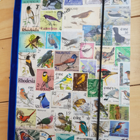 A5 Postage Stamp Ornithology Birds Notebook.