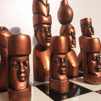 Tribal African Chess Set (Chess Pieces Only)