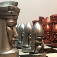 The Gothic Chess pieces designed by Peter Ganine - A must for Star Trek Fans