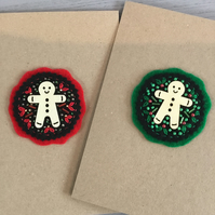 Two Cards - Festive Gingerbread