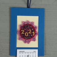 Embroidered 2021 Calendar
