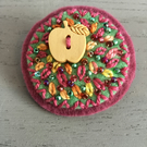 Apple Embroidered Brooch
