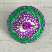 Embroidered Suffragette Brooch