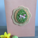 Embroidered Easter Egg Card