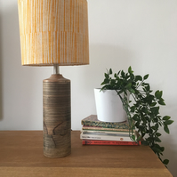 Handprinted Drum Lampshade - 20cm in design Bark (table or ceiling light)