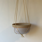 Hanging planter with macrame