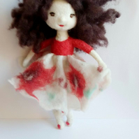 needle felt doll, art doll, waldorf toy,eco gift,collectible doll