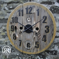 24 inch Wall Clock - Reclaimed Cable Reel