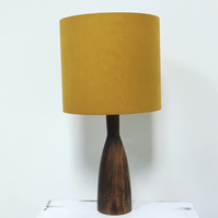 Handmade drum lampshade - a colour pop of mustard!