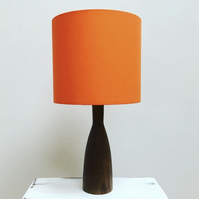 Handmade drum lampshade - a colour pop of bright orange!