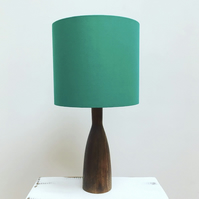 Handmade drum lampshade - a colour pop of bright emerald green!