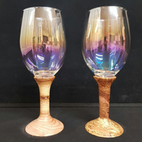 Wine Glass's with Wood stems