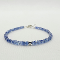Kyanite and sterling silver bracelet