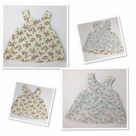 Reversible Summer Pinafore  Dress - Age 6-12 months