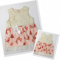 Butterfly Baby Dress - Age 9-12 months