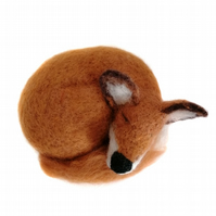Needle Felted Sleeping Fox
