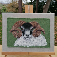 Needle Felted Picture - Ram