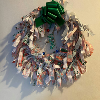 Disney Christmas Rag Wreath