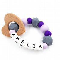 Personalised Teething ring - Teething Toy - Teether With Name