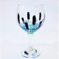Lavender & Forget-me-not Gin Glass