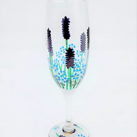 Lavender & Forget-me-not Champagne Flute