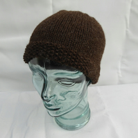 Hand Knitted Jacob Wool Beanie