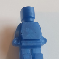 Jewellery 80's Blue Lego Figure Standing Brooch Pin Badge Resin NEW