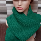 Knitted Genuine Luxury Hand Made Scarf, Chunky Forest Green