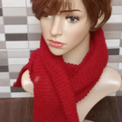 Knitted Genuine Luxury Hand Made Scarf, Soft Maroon.