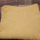 Knitted Genuine Luxury Hand Made Yellow Super Soft Baby Blanket