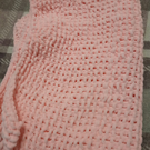 Knitted Genuine Luxury Hand Made Pale Pink Super Soft Baby Blanket
